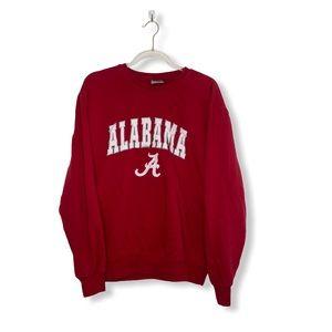 Red & White Alabama Crewneck Sweatshirt Mens Large